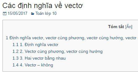 Các định nghĩa về vectơ