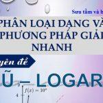 Phân loại dạng và phương pháp giải nhanh chuyên đề mũ và logarit